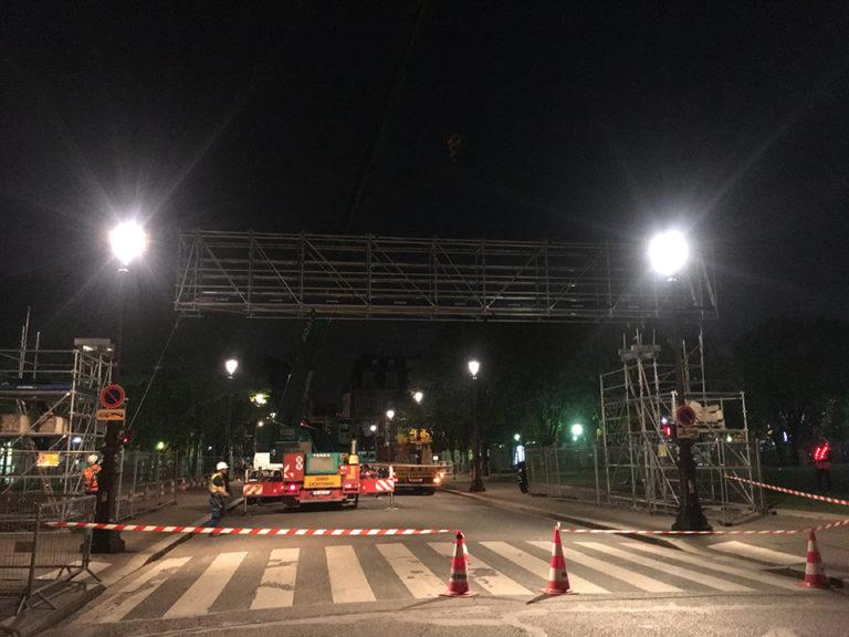 installation Paris ePrix 2019 regie exterieure ventousage