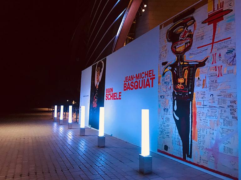ventousage et gestion de flux pour l'unauguration de l'exposition Basquiat